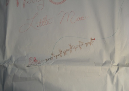 Little Mac's Santa Map wrapping paper from Joeshine