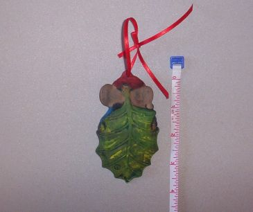 Holly Leaf Mouse Ornament